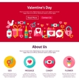 Web Design Valentine Day vector image vector image