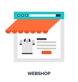 Webshop vector image vector image
