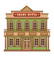 Wild West grand hotel vector image vector image