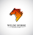Wilde horse head logo template vector image
