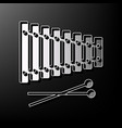 xylophone sign gray 3d printed icon on vector image vector image