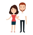 young couple teacher character vector image