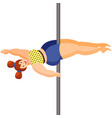 young plus size woman is dancing pole dance vector image vector image