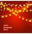 Bokeh garland lights vector image