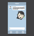 Mobile Chat Frames Message Boxes Sample Text vector image