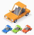 3d cartoon style retro automobile vector image