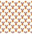 Abstract Christmas deer pattern wallpaper vector image