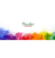 abstract horizontal with rainbow watercolor stain vector image vector image
