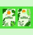 abstract summer paradise cards collection free vec vector image vector image