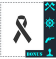 aids icon flat vector image vector image