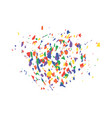 an explosion of festive confetti many falling vector image vector image
