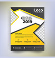 annual report template modern design with yellow vector image vector image