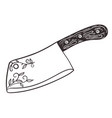 backsword with wooden handle isolate on a white vector image