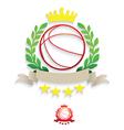 Basketball Laurel vector image vector image