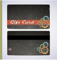 Blac Gift Card vector image vector image