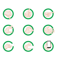 business hand gestures icons green vector image vector image