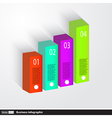 Business Infographics 3d graph vector image vector image