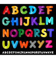 capital letters alphabet cartoon vector image