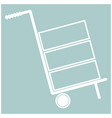 cart delivery or shipment icon white color vector image