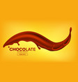 chocolate splash creamy wave hot sauce vector image vector image