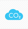 co2 cloud carbon pollution icon vector image vector image