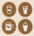 Coffee cup icons badge set vector image
