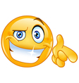 cool emoticon pointing at you vector image vector image