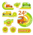 Delivery car set vector image