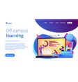 distance learning concept landing page vector image vector image