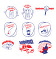 doodle medical logos and labels set vector image vector image