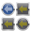 dotted icon left direction arrow on glossy vector image