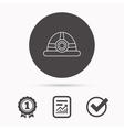 Engineering icon Engineer or worker helmet vector image vector image
