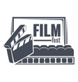 film fest filmmaking and cinematography vector image