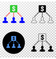 financial clients links eps icon with vector image vector image