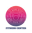 fitness center round logo badge vector image vector image
