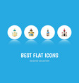 flat icon building set of catholic traditional vector image