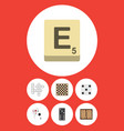 flat icon play set of ace chess table dice and vector image vector image