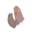 friendly dove waving by wing saying hello vector image