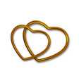 gold heart shaped frame vector image vector image