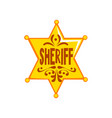 golden hexagonal sheriff star badge vector image vector image