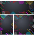 grey backgrounds with abstract colorful pattern vector image