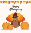 happy thanksgiving design vector image vector image