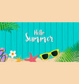 hello summer holiday background season vacation vector image vector image