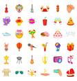ice cream icons set cartoon style vector image vector image