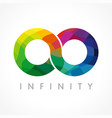 infinity color logo vector image