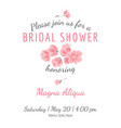 invitation bridal shower card withsakura flowers vector image vector image