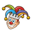jester face with hat vector image vector image