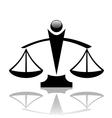 justice scales icon vector image vector image