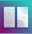 mandala card design banners set vector image