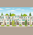 modern town buildings vector image